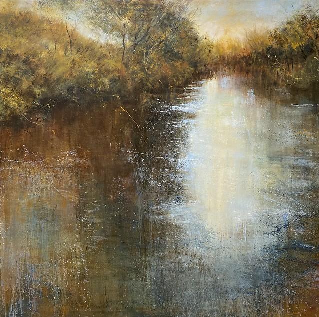 Autumn Light - oil on canvas - 100 x 100 cm - available