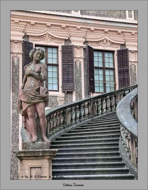 Schloss Favorite - Outside Staircase 02