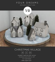 {YD} Christmas village
