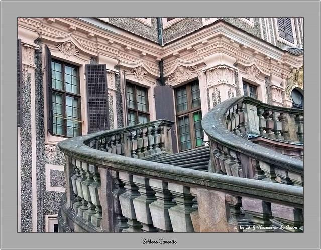 Schloss Favorite - Outside Staircase 04