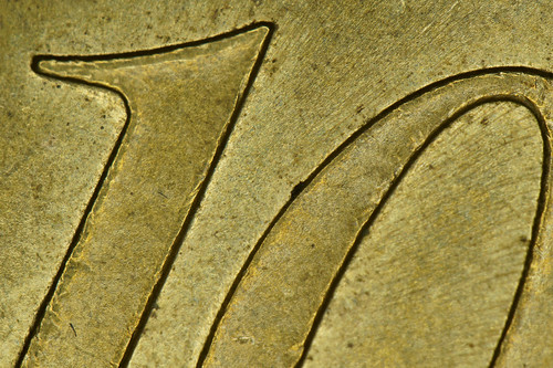 10 eurocent 5x magnification, single shot | by Ronald van der Graaf