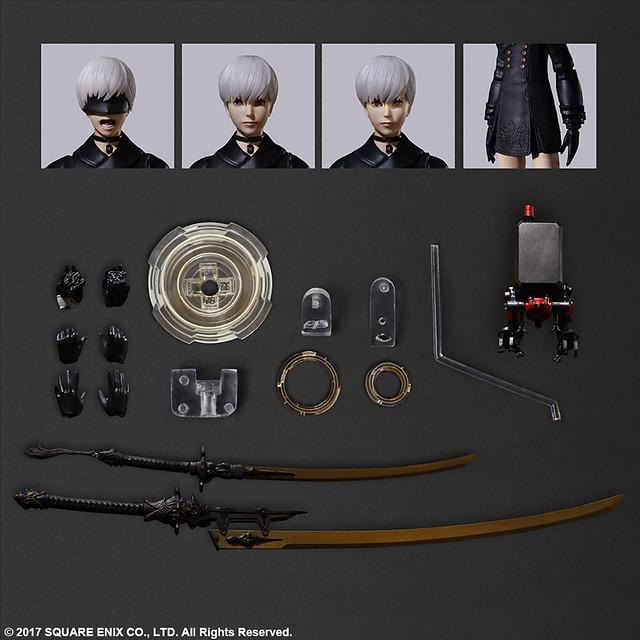 PLAY ARTS改《尼爾:自動人形》9S 可動人偶 一般版、DX版明年 05 月發售!