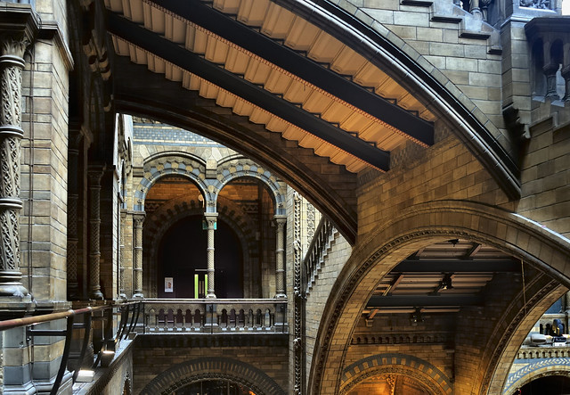 Victorian Romanesque Revival - Natural History Museum, 1881, London SW7.