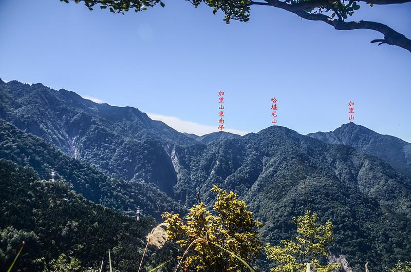 鹿坑山稜線(H 1806 m)西南眺加里山稜線 (4)