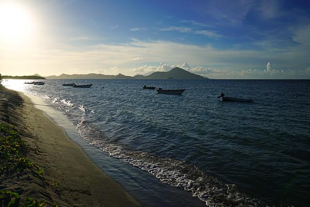Newcastle Bay shoreline, Nevis
