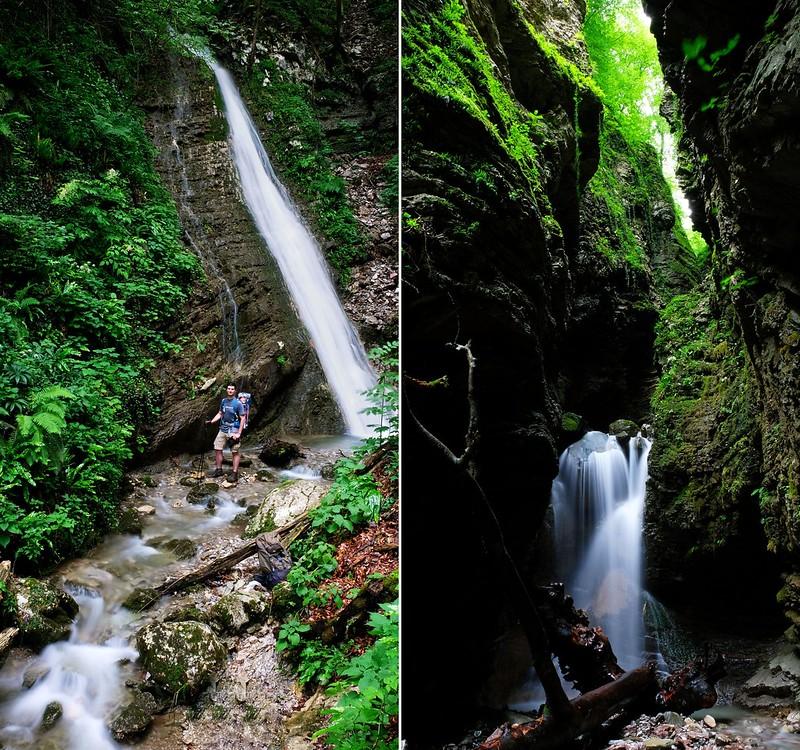 Waterfalls of the Koseč Gorges, Triglav National Park, Slovenia