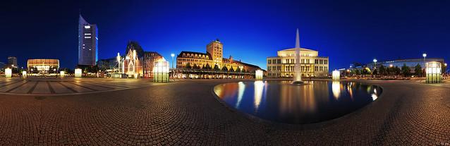 Leipzig - Augustusplatz Panorama