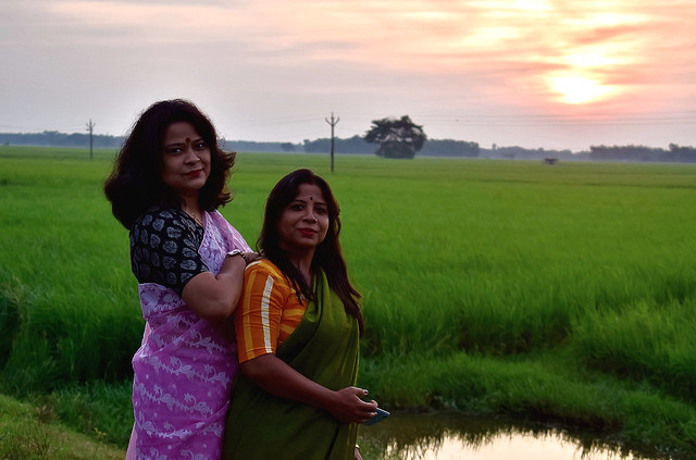 Dual portrait-in midst of nature!