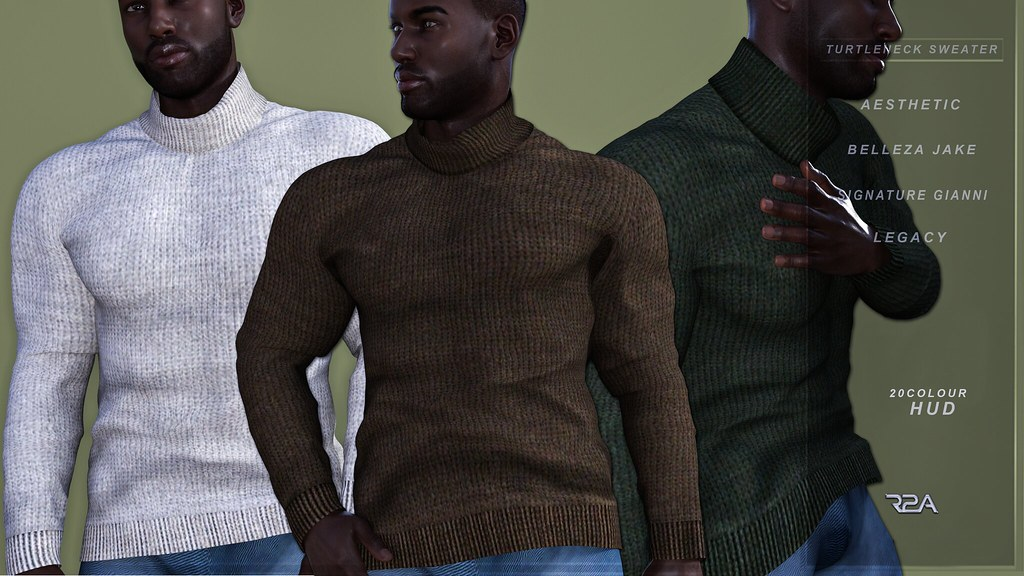 R2A- TURTLENECK SWEATER W/HUD