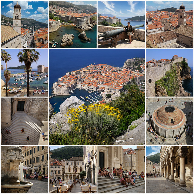 The historical stone-walled city Dubrovnik