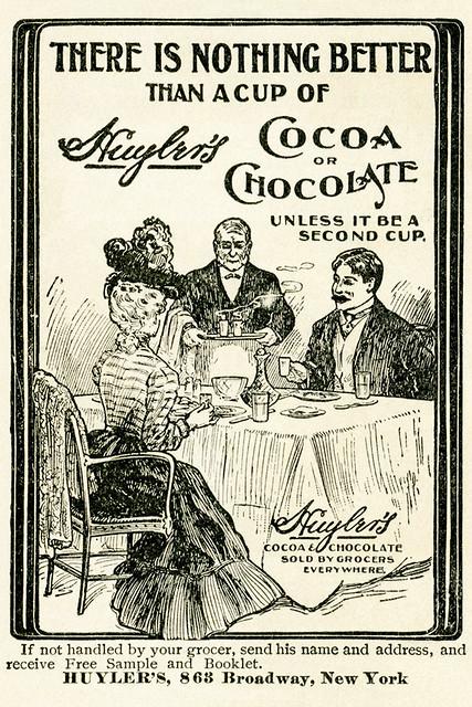 Aus einem über 100 Jahre alten Kochbuch eingescant: Menschen beim Essen und Trinken