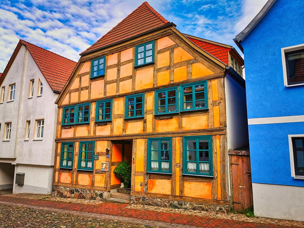 Waren/Müritz - Altstadt, Fachwerkhaus