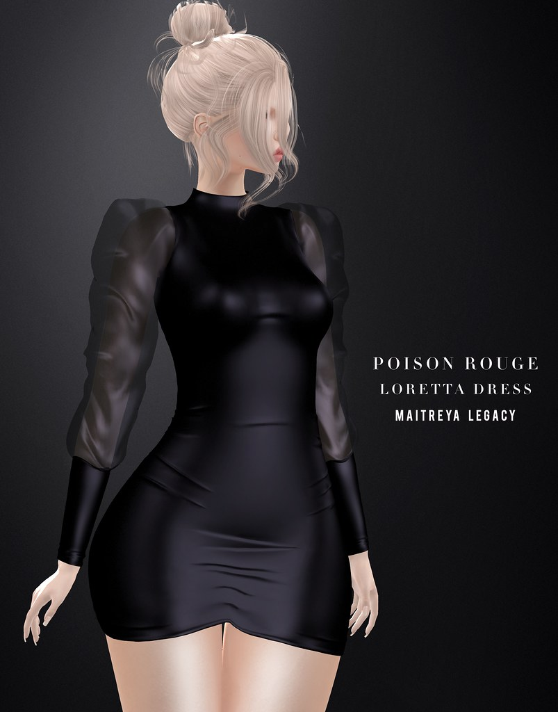 POISON ROUGE Loretta Dress @Tres Chic