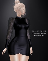 POISON ROUGE Loretta Dress @Tres Chic