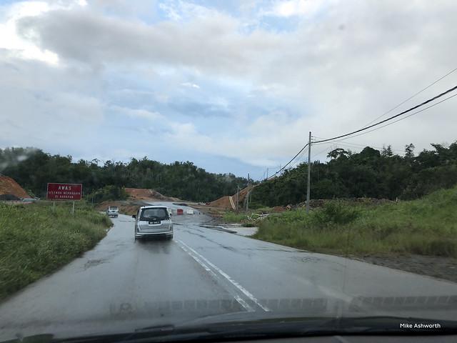Road improvements work, A2 at Papar, Sabah, Malaysia - 26 December 2017