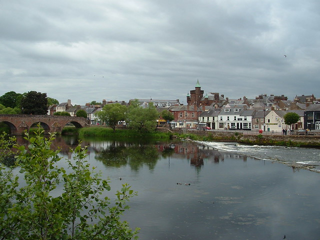 Nith above the Caul. Dumfries 2020. FinePix S3000