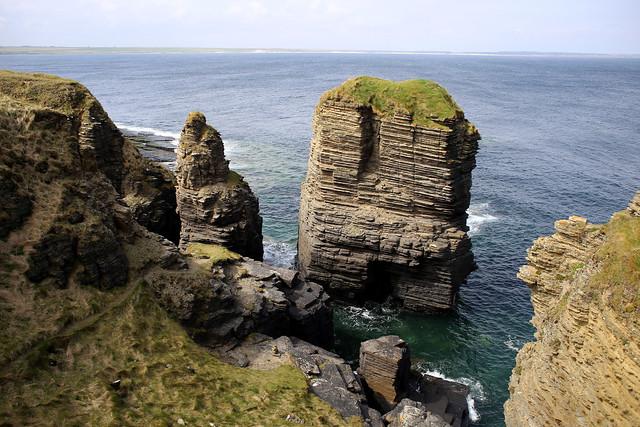 The coast from Castle Sinclair Girnigoe