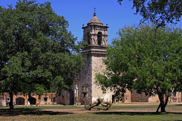 view of trees at Mission San Jose y San Miguel de Aguayo