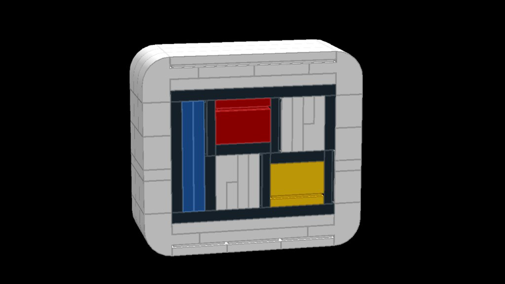 Lego Mondrian Mosaic