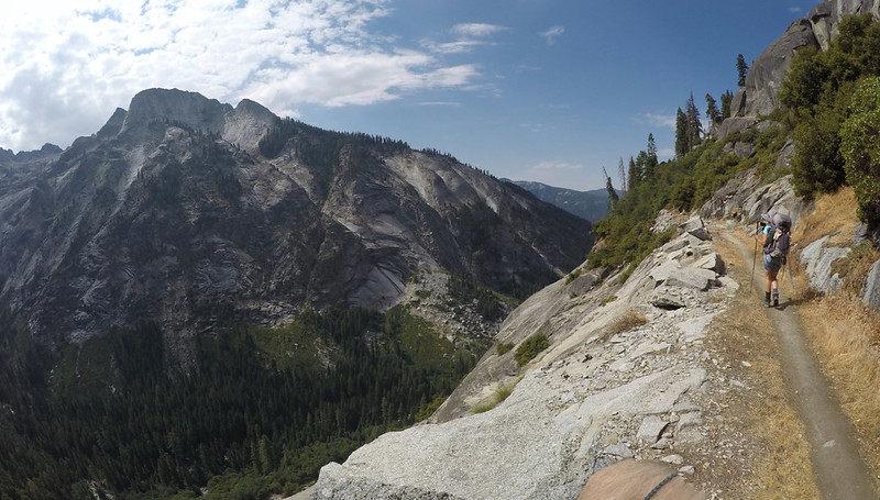 Beautiful views of glaciated granite canyon walls as we hike toward Bearpaw Meadow on the High Sierra Trail