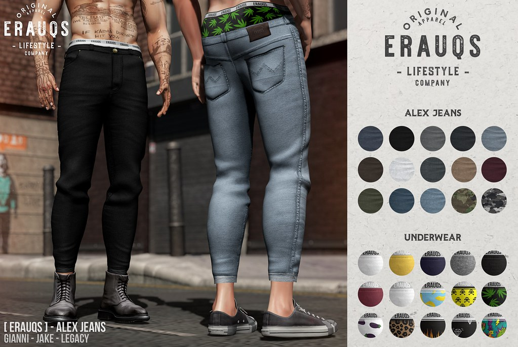 [ ERAUQS ] – Alex Jeans at Man Cave