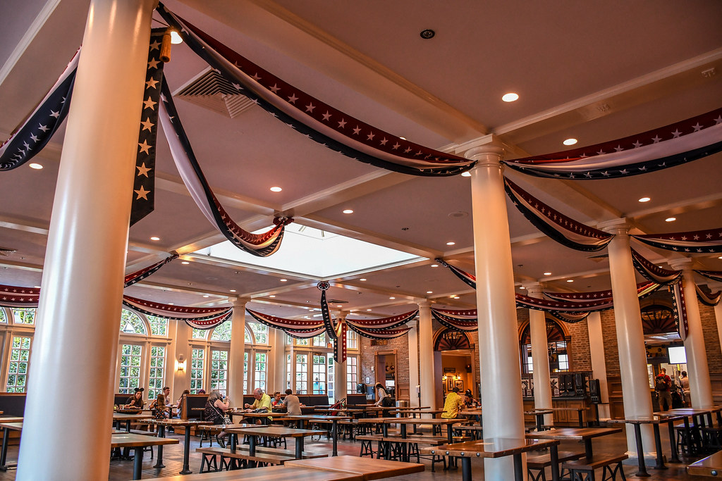 Regal Eagle Smokehouse indoor seating Epcot