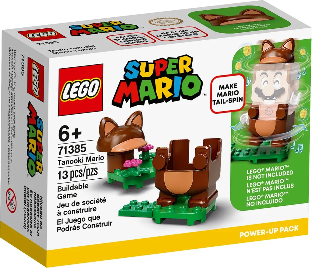 LEGO 71380~71386《樂高超級瑪利歐》多款盒組、力量升級包、角色包發表!