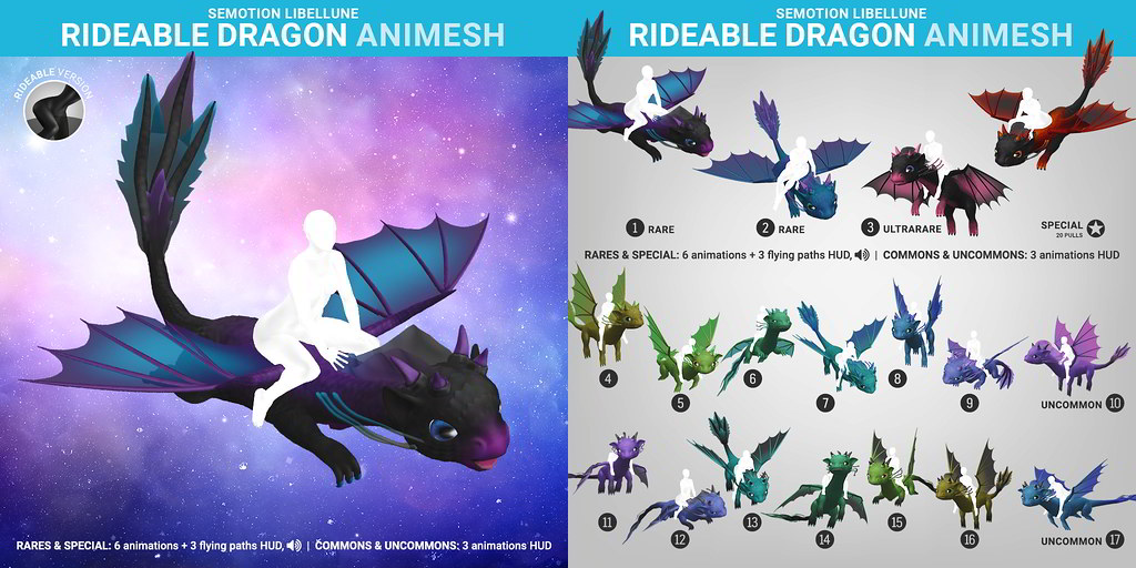 SEmotion Libellune Rideable Dragon Animesh
