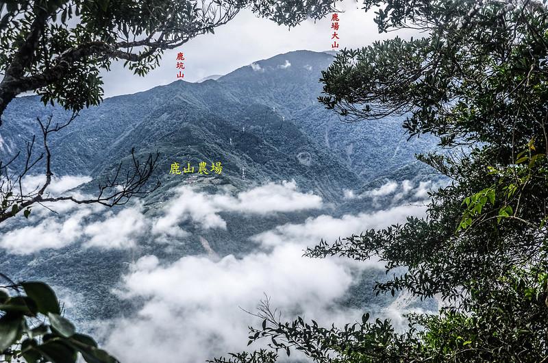 南大龜山山頂東南遠眺鹿坑山、鹿場大山 1-1