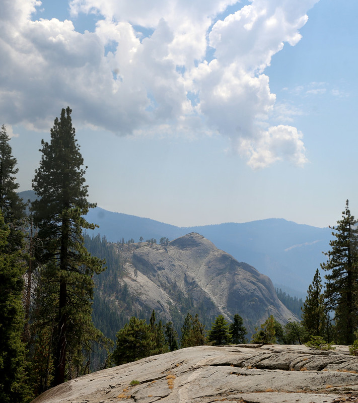Sugarbowl Dome from the High Sierra Trail as we neared Nine Mile Creek