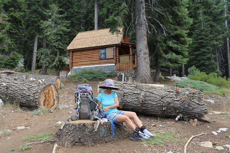 We ate lunch at the Bearpaw Meadow Ranger Station on the High Sierra Trail
