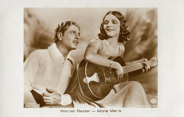 Warner Baxter and Mona Maris in Romance of the Rio Grande (1929)