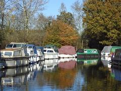 Boats at Paper Mill lock, Little Baddow