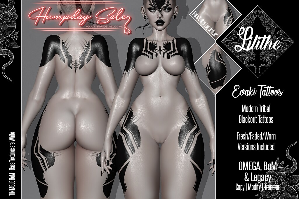 Lilithe'// Evaki Tattoos @ Humpday Sale