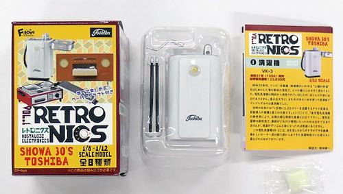 感受時代的變遷!F-toys 昭和30年代復古家用電器 盒玩(Retronics)