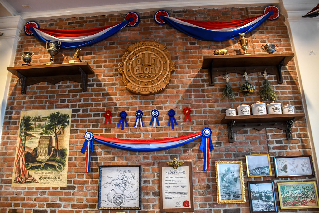 Regal Eagle Smokehouse brick wall Epcot