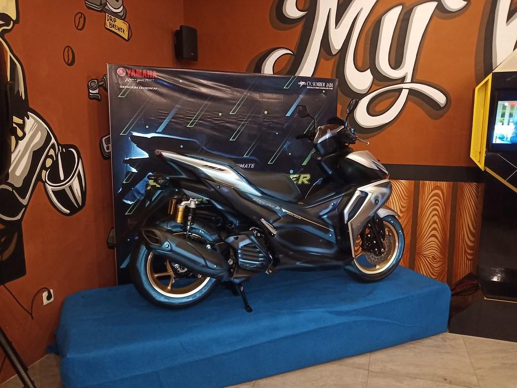 All New Yamaha Aerox 155 Connected Launching di Bangka