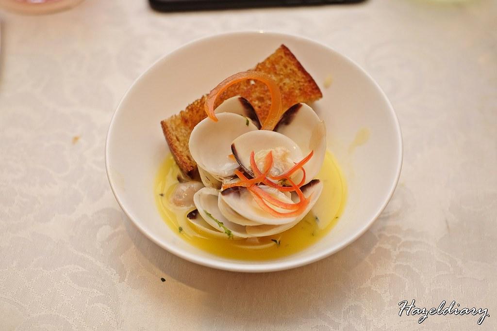 conrad centennial singapore christmas 2020-Slow cooked butter garlic manila clams