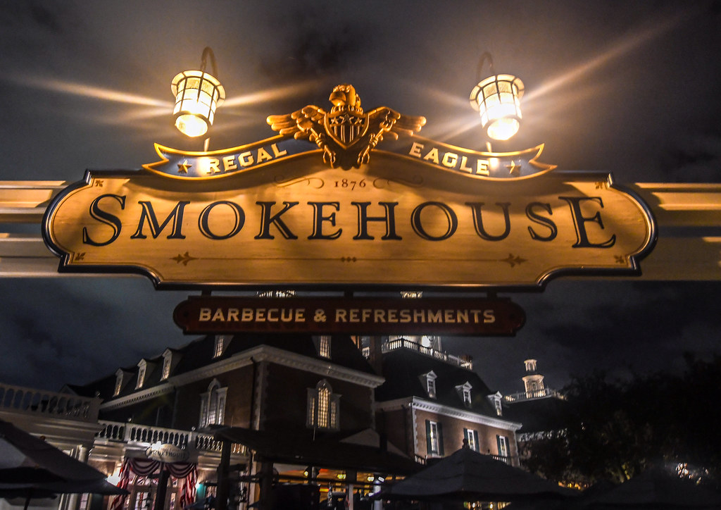 Regal Eagle Smokehouse sign Epcot