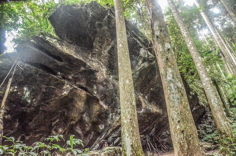向天湖山凹洞巨岩 (1)