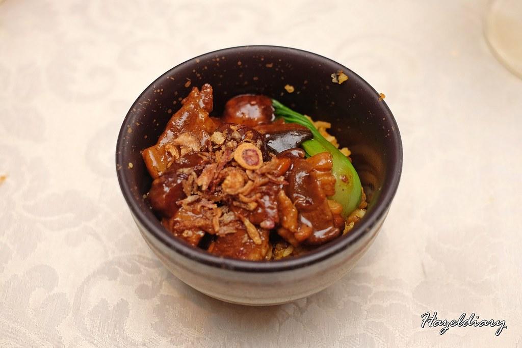 conrad centennial singapore christmas 2020-Braised Chestnuts, Pork belly and Mushroom pumpkin rice