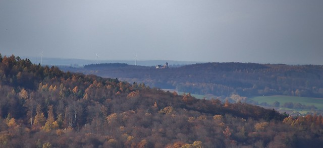 View to the Ronneburg from Waldrode