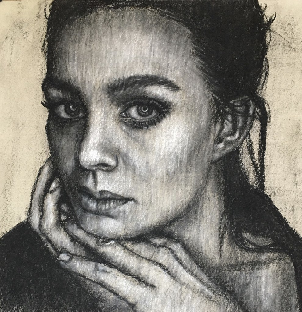Black and white portrait by Ryk