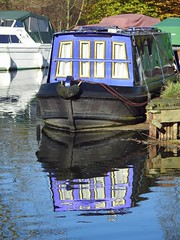 Reflections at Paper Mill lock, Little Baddow, Essex