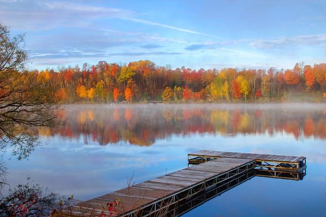 Autumn Morning along the Lake (Explored)