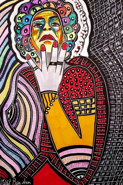 בן נון מירית אמנית ישראלית ציירת מודרני עכשווי צבעוני אקספרסיבי