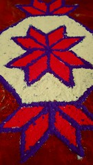 Rangoli. Close up.