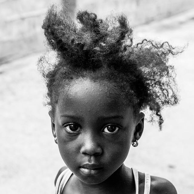 Gambian Girl Head shot