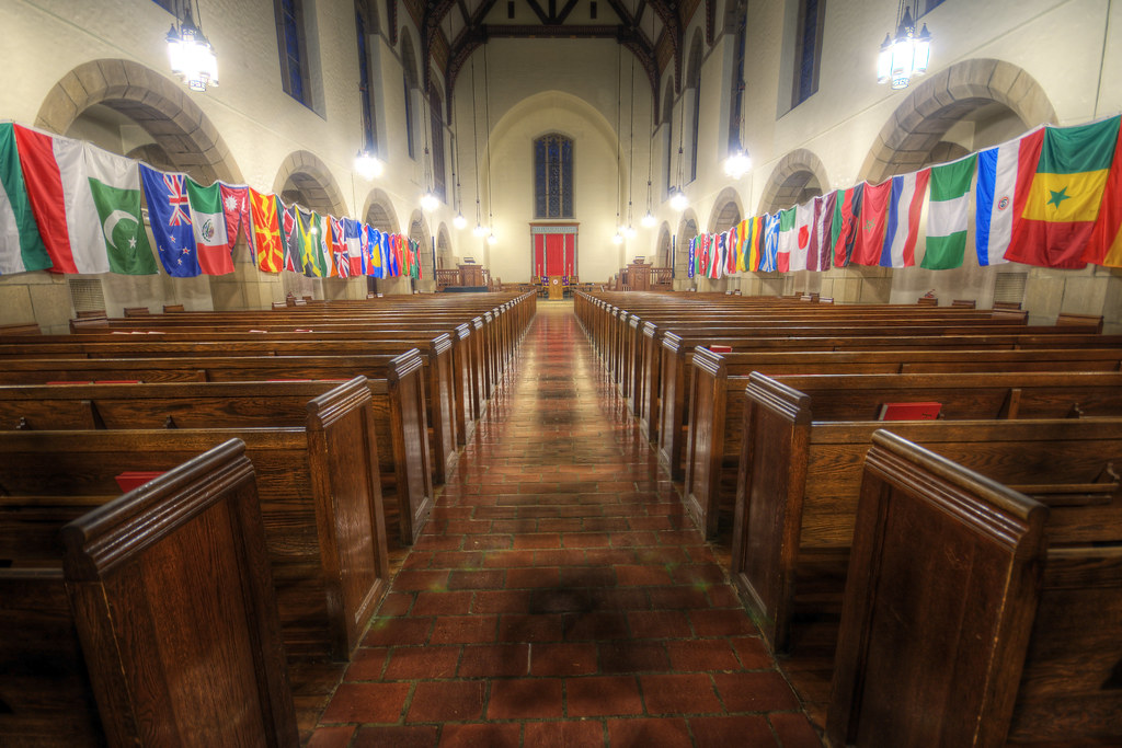 Flags in the Chapel