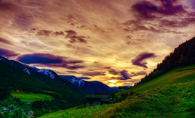 Sunset Val di Funes